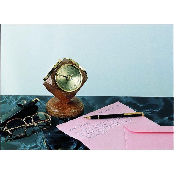 TFA Asztali barométer mogyoró  színű hátlappal. Műszer átmérő:70mm 010433011