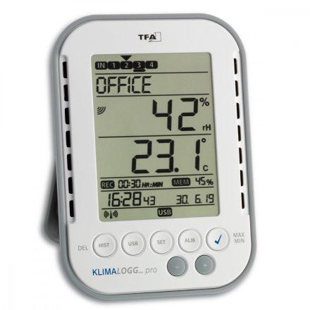 Digitális hő- és páramérő adatrögzítő Klimalogg Pro TFA 30.3039