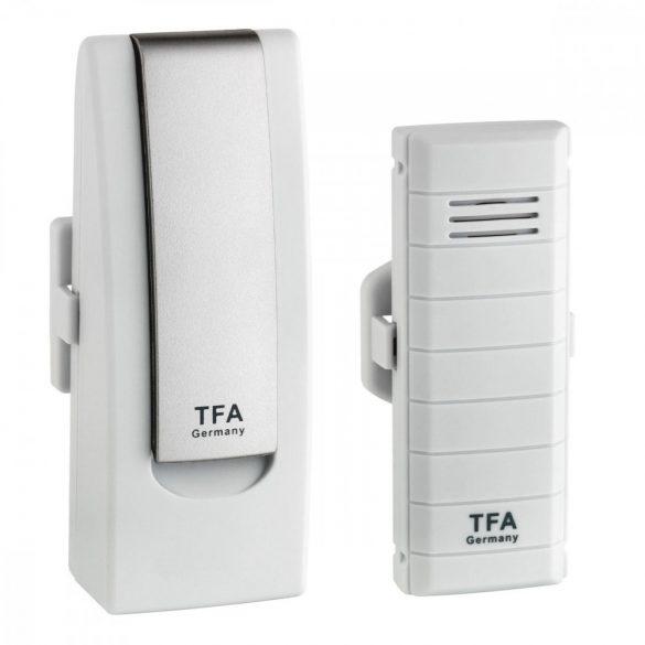 TFA DIGITÁLIS HŐMÉRŐ 31.4001.02 WEATHER HUB Okos telefonról figyelhető otthoni hőmérő, nem kell más hozzá csak internet hozzáférés.