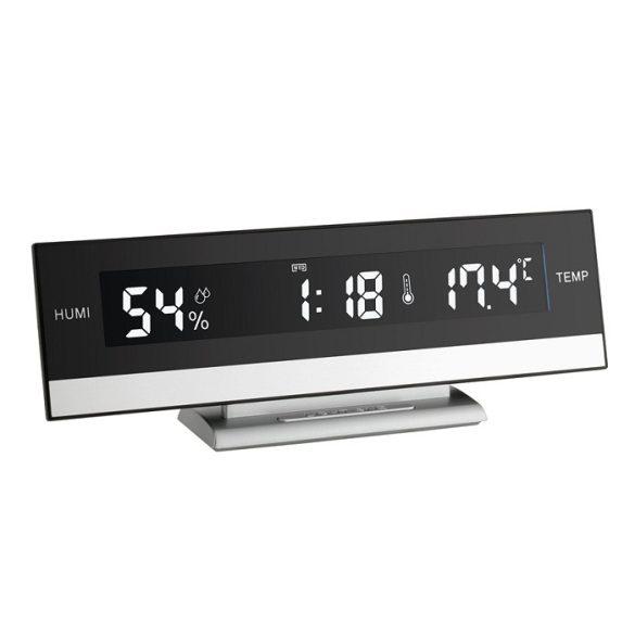 Digitális beltéri hőmérő páramérővel és ébresztő órával 60.2011 TFA