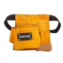 10262 - Bőr szerszám- és szegtartó táska HANDY Mérete: 20(sz) x 21(m) cm Öv hossza: max. 115 cm