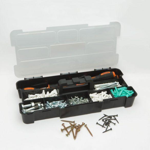 HANDY Műanyag szerszámosláda közepes 458 x 247 x 233 mm 10945B