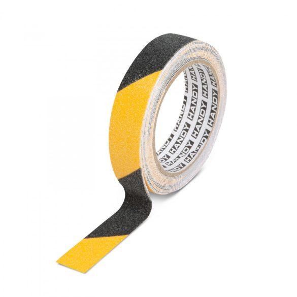 Ragasztószalag - csúszásmentes - 5 m x 25 mm - sárga / fekete Handy 11087B