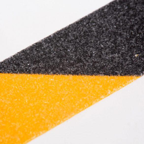 Ragasztószalag - csúszásmentes - 5 m x 50 mm - sárga / fekete Handy 11088B