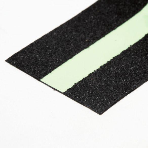 Ragasztószalag - csúszásmentes - 5 m x 50 mm - foszforeszkáló / fekete Handy 11088C