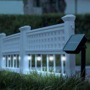 LED-es szolár kerítés - 58 x 36 x 3,5 cm - hidegfehér - 4 db / szett 11237
