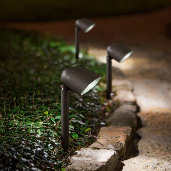 LED-es szolár lámpa fényvetővel - fekete - 410 mm 11251