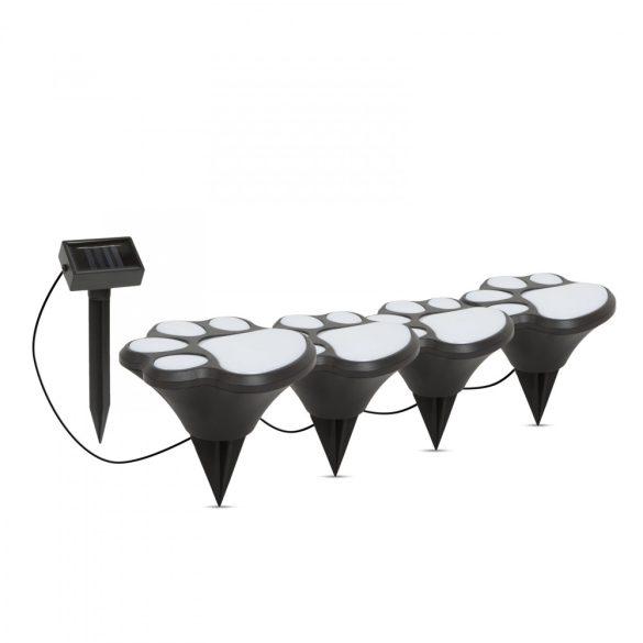 LED-es szolár lámpa - kutya lábnyom, leszúrható - műanyag - fekete - 360 cm 11255