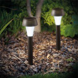 LED-es szolár lámpa - hidegfehér - fekete - műanyag 11260