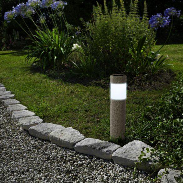 LED-es szolár lámpa - kőmintás - műanyag 11265