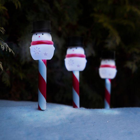 Led-es szolár lámpa - hóember 11374A
