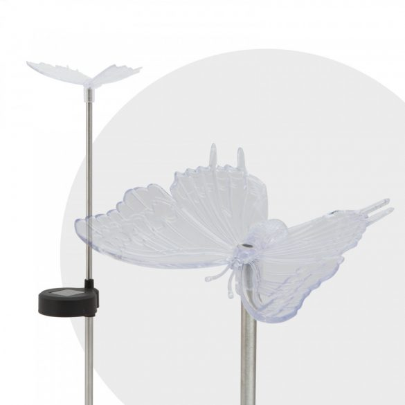 RGB led szolár lámpa pillangó 11393