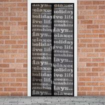 Delight Szúnyogháló függöny ajtóra mágneses, feliratos mintás  100x210 cm, Delight 11398B
