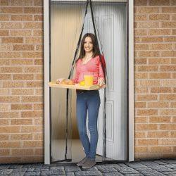 Delight 11398BK - Szúnyogháló függöny ajtóra fekete