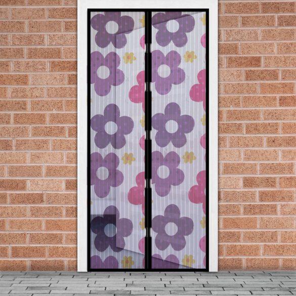 Szúnyogháló függöny ajtóra mágneses 100 x 210 cm színes virágos 11398I