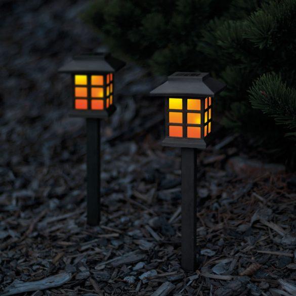 Led szolár lámpa lángokat imitáló 38 cm 11403C