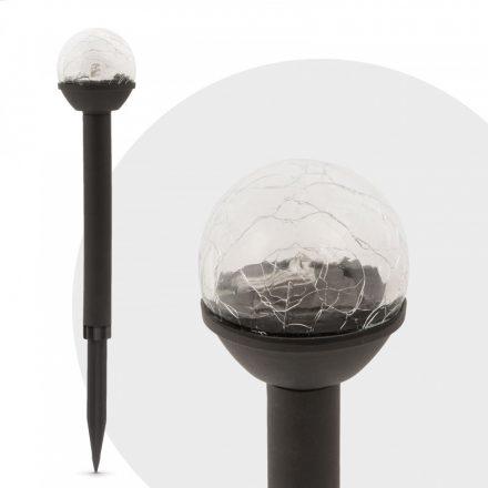 """LED szolár lámpa """"Kristály"""" - Hidegfehér - 23 cm  11416C"""