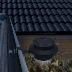 Szolár ereszcsatorna / kerítés fény 3 LED-del - fekete 11445BK