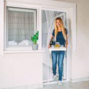 Szúnyogháló függöny ajtóra 4 db szalag max 100 x 220 cm Delight fehér 11608WH