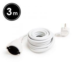 Hálózati lengő hosszabbító 3m 1.5mm fehér Globíz 20500WH