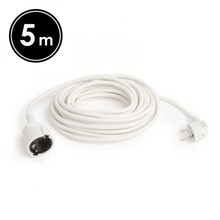 Hálózati lengő hosszabbító 5m 1.5mm fehér Globíz 20503WH