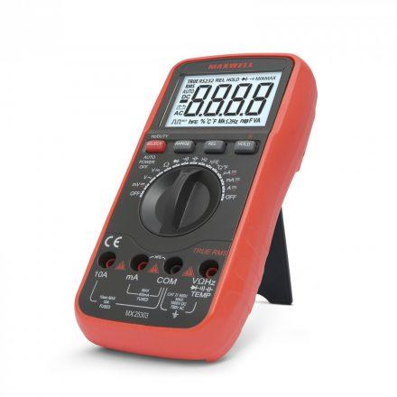 Multiméter Digitális hőmérséklet méréssel (TRUE RMS)