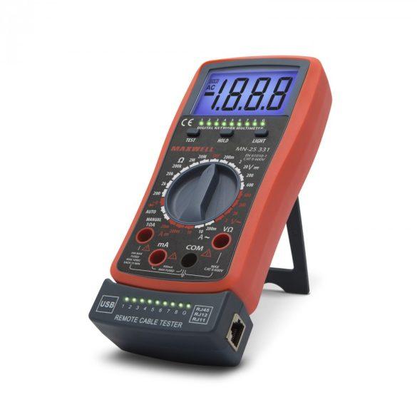 Multiméter  kábel teszterrel Maxwell 25331