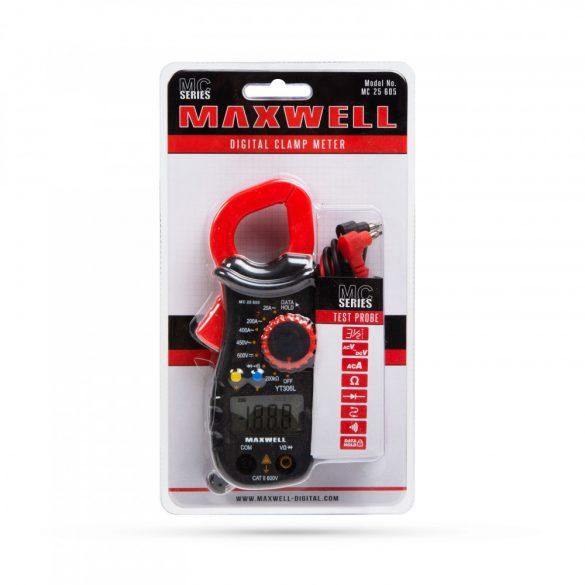 MAXWELL Digitális lakatfogó,  multiméter 25605
