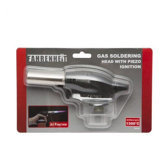 Fahrenheit Gázüzemű forrasztófej piezzos gyújtással gázpáka 28089