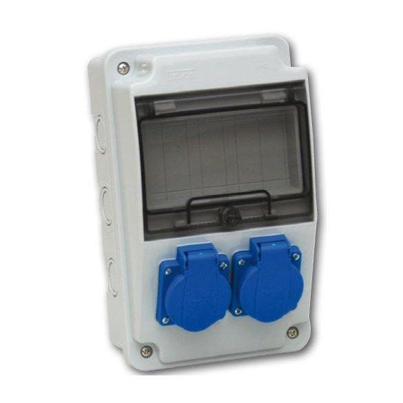 Ipari csatlakozó doboz falon kívüli 2x 2P+F 3318-200-0000