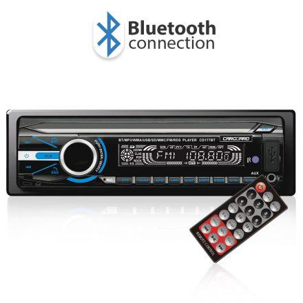Autórádió és zenelejátszó, fejegység FM tunerrel és SD/MMC/USB olvasóval Bluetooth