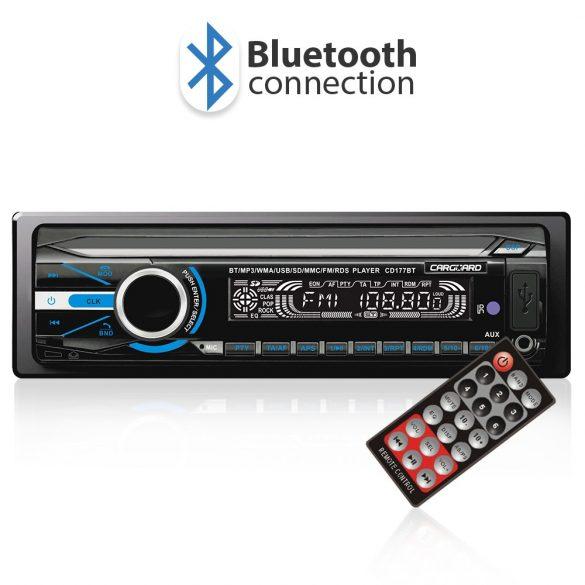 Carguard MP3 autórádió és zenelejátszó, fejegység 39702  FM tunerrel és SD/MMC/USB olvasóval Bluetooth 39702