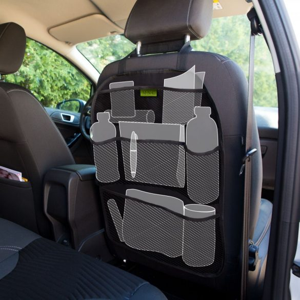 MNC Ülésre akasztható autós rendszerező - 6 zseb - 42 x 59 cm