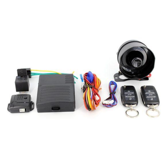 Távirányítós autó-riasztórendszer központízár-vezérlő szettel Delight 55076B