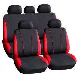 Autós üléshuzat szett - piros / fekete - 9 db-os - HSA002 55670RD