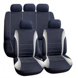 Autós üléshuzat szett - szürke / fekete - 9 db-os - HSA005 55671GY