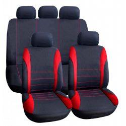 Autós üléshuzat szett - piros / fekete - 9 db-os - HSA007  55671RD