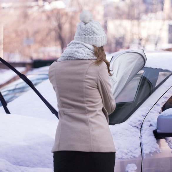 Autós szélvédőtakaró / jegesedésgátló - 150 x 70 cm M.N.C 55804A
