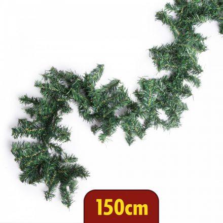 Girland zöld fenyő, dús - 150 cm
