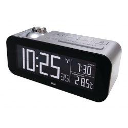 Rádió-Távirányítású Ébresztőóra LCD Bronz/Fekete