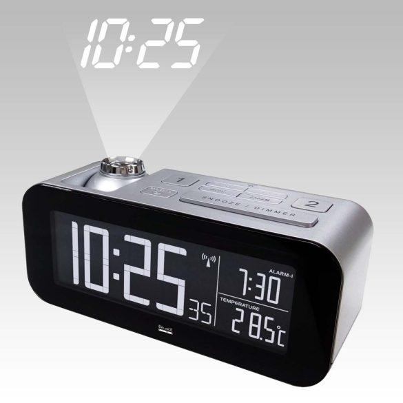 Rádió-Távirányítású Ébresztőóra LCD Bronz/Fekete 862458