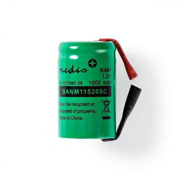 Nikkel-fémhidrid akkumulátor   1,2 V   1000 mAh   Forrasztható csatlakozók BANM11520SC