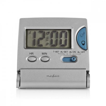 Digitális Utazós Ébresztőóra | Vékony | Összehajtható | Ezüst CLDK001SR