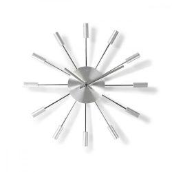 Kör Fali Óra | 34 cm-es Átmérő | Ezüst