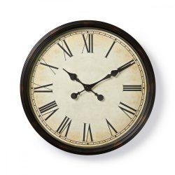 Kör Fali Óra | 50 cm-es Átmérő | Antik Stílus | Fekete