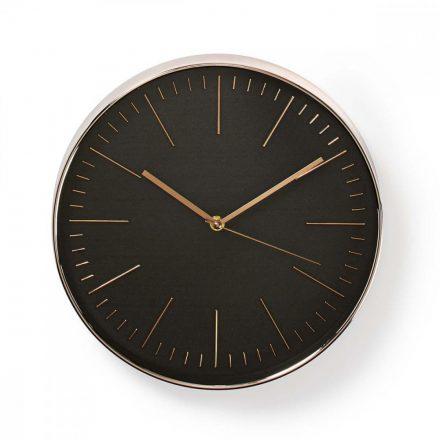 Kör Fali Óra | 30 cm-es Átmérő | Fekete és Rozé Arany CLWA013PC30BK