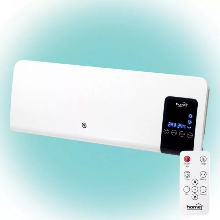 Fali ventilátoros fűtőtest, stop programos távirányítóval - 1000 / 2000 W