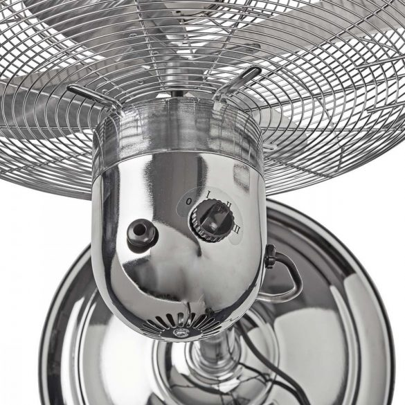 Fém Álló Ventilátor | Állítható Magasság | 40 cm-es Átmérő | 3 Sebesség | Króm Nedis FNST20ECR40