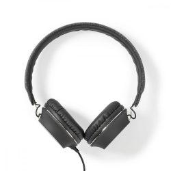 Szövetborítású Vezetékes Fejhallgató | Fülre Illeszkedő | 1,2 m-es Audiokábel | Antracit/Fekete Nedis FSHP100AT