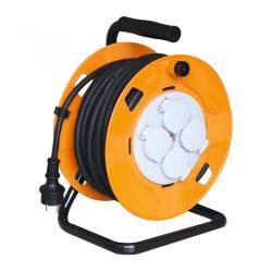 Somogyi Kábeldob 30 m gumírozott vezetékkel 1.5mm2 HJR 10-30